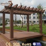 Pérgolas al aire libre modernas de WPC 3X4 con el estilo de madera para el jardín