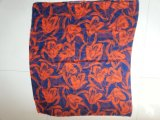 Sciarpa rossa del poliestere della stampa del fiore per gli scialli del voile degli accessori di modo delle donne