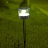 Lámpara al aire libre del césped de la luz LED del jardín del panel solar de los Ss del plástico