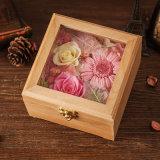 Fiore conservato di legno per il regalo di natale