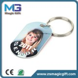 Hot Sales Customized Zinc Alloy Keychain com etiqueta de impressão