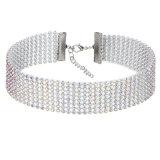 Juwelen van het Huwelijk van de Halsband van de Nauwsluitende halskettingen van het Bergkristal van het Kristal van de Diamant van de Vrouwen van de manier de Volledige