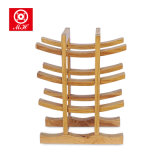 Tribune van de Vertoning van de Plank van het Rek van de Wijn van het Bamboe van de Wijn van het stevige Materiaal de Bulk