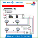 2 anos de luz fixada na parede da associação do diodo emissor de luz do aço inoxidável da garantia