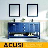 Neue erstklassige heiße verkaufende amerikanische einfache Art-festes Holz-Badezimmer-Eitelkeits-Badezimmer-Schrank-Badezimmer-Großhandelsmöbel (ACS1-W59)