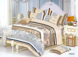 Las hojas llenas 4PCS venden al por mayor las ropas de cama cuatro conjuntos del lecho