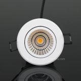 LED encastré Downlight COB 7W avec CE, RoHS, SAA, EMC, certification LVD