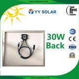 30W aspecto hermoso panel solar por la lámpara solar de la señal