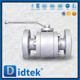 Robinet à tournant sphérique à passage réduit de flottement de cachetage sûr doux d'incendie de Didtek
