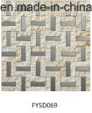 Carrelage de marbre mélangé de mosaïque en métal pour le matériau de construction (FYSD070)