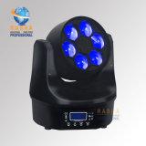 Rasha Fx6のDMX512 Poerconの新しい段階ライト6*15W 4in1 RGBW/RGBA蜂の目LEDの移動ヘッドビームライト