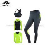 단단한 체조 착용 고정되는 밝은 색깔 스포츠 적당은 여자를 위해 착용하는 세트를 입는다