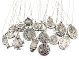 مجوهرات نمط صامد للصدإ أثر قديم فضة يفتن صليب مدلّاة عقد