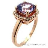Romantischer Splitter-Hochzeits-Ring der Art-925 golden mit Inner-Form-Stein (R0077py)