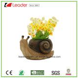 Macetas de la estatua del caracol de Polyresin para la decoración del hogar y del jardín