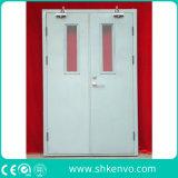 Puertas dobles clasificadas del fuego hueco del metal con el panel de la visión