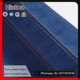 Hot Sale Indigo Color Jean tecido estiramento Terry denim tecido
