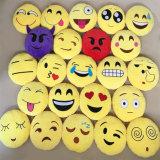 Cuscino sveglio divertente di Emoji con colore giallo