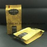 Nahrungsmittelgrad-Seiten-Stützblech-Kunststoffgehäuse-Beutel verwendet auf Imbiss-Nahrung/Kaffee/Reis