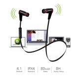 Bluetooth 4.1 trasduttori auricolari stereo di Earbuds delle cuffie dell'in-Orecchio senza fili di sport con il microfono (il nero)
