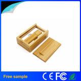 Mecanismo impulsor de madera de encargo al por mayor del flash del USB del bambú con el rectángulo del conjunto