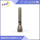 Lanterna elétrica recarregável da tocha do diodo emissor de luz do poder superior barato do ouro