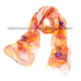 manier 170*55cm de Sjaal van Dame Silk Chiffon Custom Print Zijde
