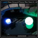 Lâmpada de tabela leve do diodo emissor de luz das formas diferentes do material do PE para o jardim