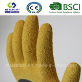 Gants en nylon de latex de gants de sûreté de gants de protection de travail de latex