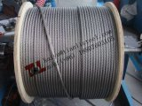 Веревочка провода нержавеющей стали Ss316 7X7 от Tianli