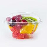 Bacia transparente descartável da bolha do diamante para a salada da fruta