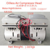 550W Oilless Luftverdichter-Kopf-ölfreier Luftverdichter