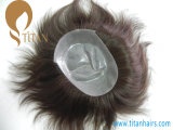 Prix ​​d'usine Nature Hairline Toupee with Thin Skin Base