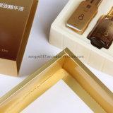 Косметическая упаковывая коробка с изготовленный на заказ печатание (внутренний поднос PS белизны)