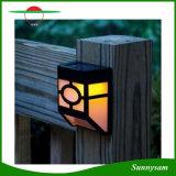 Indicatore luminoso solare solare impermeabile chiaro solare esterno chiaro della rete fissa del giardino della lampada da parete dell'indicatore luminoso 10 LED di Control+Sound Control+Dim