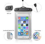Sac imperméable à l'eau de vente chaud de PVC de téléphone mobile nageant le point de droit imperméable à l'eau pour l'iPhone 7plus/Samsung S8