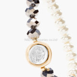 Armband van de Vrouwen van de Parel van het Kristal van de Parel van de Juwelen van de manier de Elastische Kleurrijke