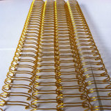 Alambre doble revestido de nylon del bucle (color del oro)