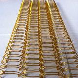 Nylon recubierto de doble cable de lazo (color oro)