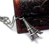 De Juwelen van de Manier van het Staal van het Titanium van de Tegenhanger van de Halsband van de Toren van Eiffel