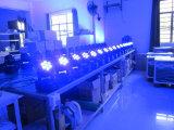 7PCS*10W 4 dans 1 mini lavage pour l'éclairage principal mobile d'étape légère de l'étape DEL
