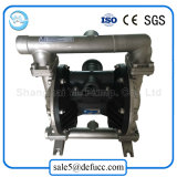 Bomba de diafragma dobro pneumática portátil do aço inoxidável