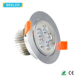 Blanco puro de plata especular LED Downlight de RoHS 5W Dimmable del Ce