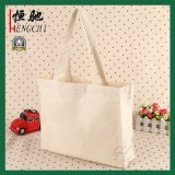 Vouwbare Katoenen Shopping Tote Canvas Tas met Full Color Printing Pocket