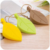 Colorful Creative Leaf Shape Baby Hand Safety Silicone Door Stopper com Hang Rope