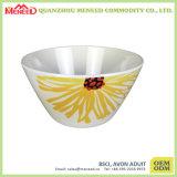 メラミンサラダボールのように陶磁器花の完全なプリント