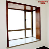 Caoba sólida de madera Woulding Marco de ventana decorativa (GSP17-001)