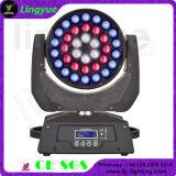 DMX DJ 디스코 36X18W RGBWA UV 6in1 단계 가벼운 이동하는 헤드 LED