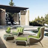 Sofá ao ar livre do sofá ajustado ao ar livre popular novo do jardim do sofá do Rattan da mobília do hotel do projeto