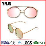 Ynjn Unisex Mirror Lentes Óculos de sol octagon irregulares